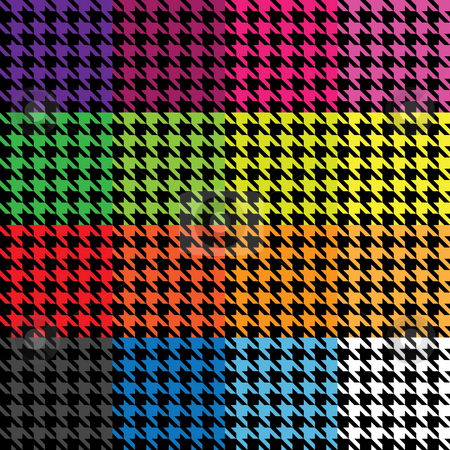 Houndstooth Patterns stock photo, Trendy houndstooth patterns in a variety of different colors that tile seamlessly as a pattern. by Todd Arena