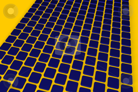 Blue tiles stock photo, Abstract background blue tiles - 3d illustration by J?