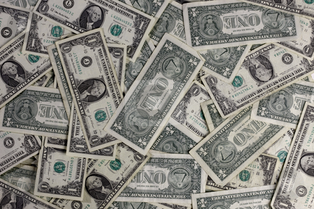 Money stock photo, Frame filled with U.S. dollar bills by James Barber
