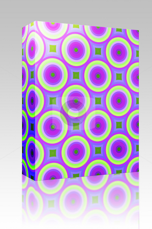 Abstract retro pattern box package stock photo, Software package box Colorful abstract retro patterns geometric design wallpaper background by Kheng Guan Toh