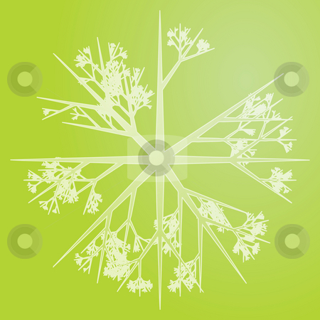 Snowflake illustration stock photo, Snowflake pattern design abstract illustration on gradient by Kheng Guan Toh