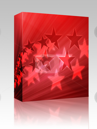 Flying stars illustration box package stock photo, Software package box Abstract geometric wallpaper background of flying stars by Kheng Guan Toh