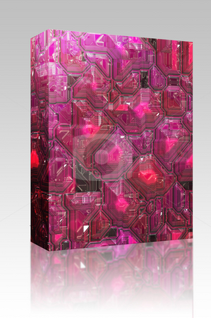 Abstract tech background box package stock photo, Software package box Abstract high tech circuitry background wallpaper illustration by Kheng Guan Toh