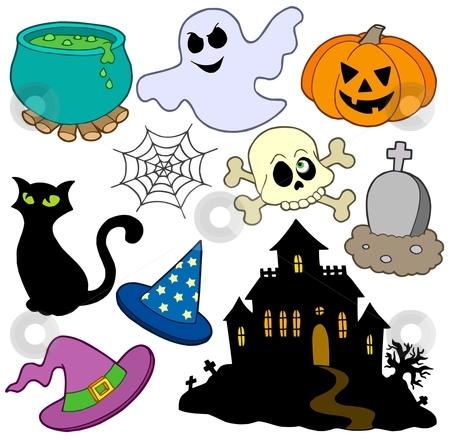 Various Halloween images 2 stock vector clipart, Various Halloween images 2 - vector illustration. by Klara Viskova