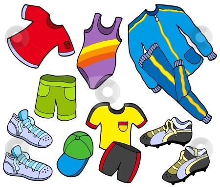Sport clothes collection stock vector clipart, Sport clothes collection - vector illustration. by Klara Viskova