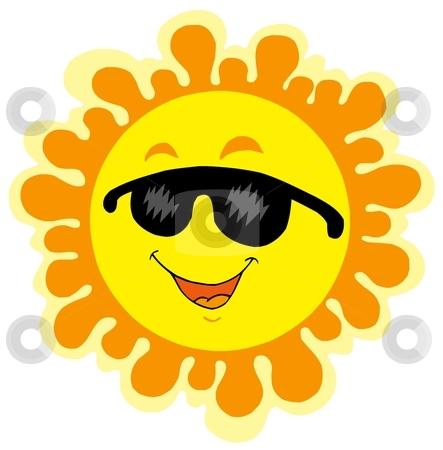 Funny Sun cartoon stock vector clipart, Funny Sun cartoon - vector illustration. by Klara Viskova