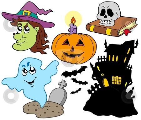 Various Halloween images 4 stock vector clipart, Various Halloween images 4 - vector illustration. by Klara Viskova