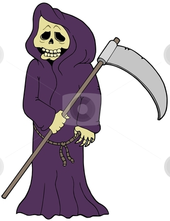 Cartoon grim reaper stock vector clipart, Cartoon grim reaper - vector illustration. by Klara Viskova