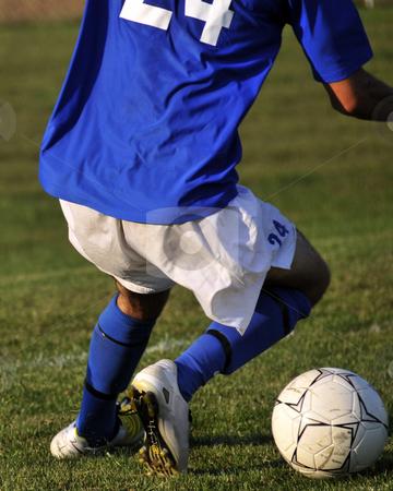 Soccer Ball Dribble stock photo,  by W. Paul Thomas