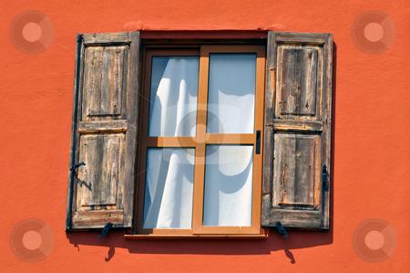 Old window stock photo, Window in the old town of Rhodes, Greece. by Fernando Barozza