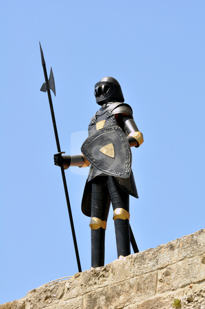 Knight armor, Rhodes. stock photo, Armor at the ancient fortress of Rhodes, Greece by Fernando Barozza