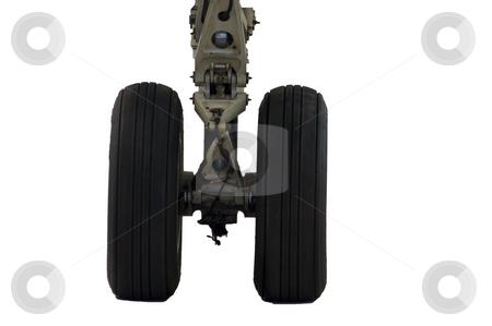 Aircraft Landing Gear stock photo, Close up of jet aircraft landing gear by Stephen Meese