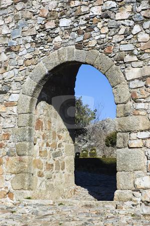 Castle of Marvao stock photo, Door in the Castle of Marvao, Alentejo, Portugal by Manuel Ribeiro