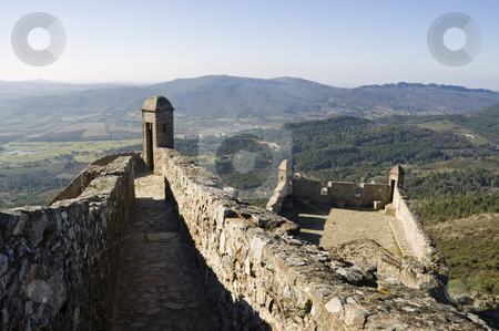 Castle of Marvao stock photo, Path in the walls of Castle of Marvao, Alentejo, Portugal by Manuel Ribeiro