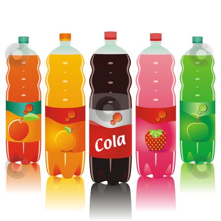 Fully editable juice plastic bottles stock vector clipart, Fully editable juice plastic bottles by pilgrim.artworks
