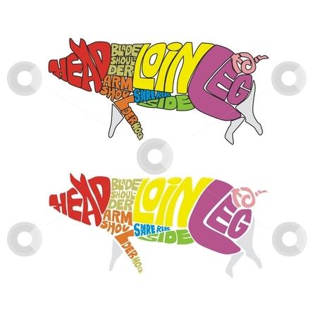 Fully editable farm animal from words stock vector clipart, Fully editable farm animal from words by pilgrim.artworks
