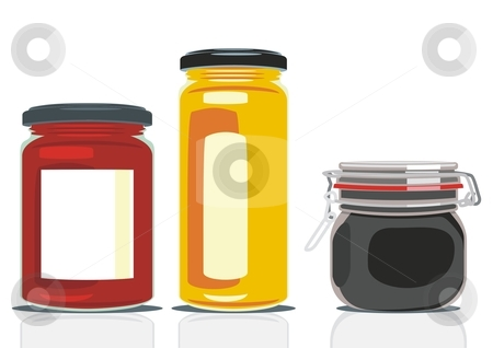 Fully editable vector jam jars with details ready to use stock vector clipart, Fully editable vector jam jars with details ready to use by pilgrim.artworks