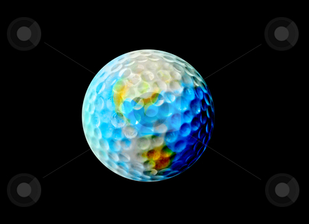 Golf Earth stock photo, The World of Golf by Reinhart Eo