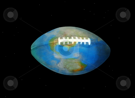 Football Earth stock photo, The World of American Football and Rugby by Reinhart Eo