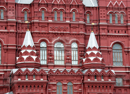 Historical Museum on Red Square in Moscow stock photo, Building of Historical Museum on Red Square in Moscow, Russia by Julija Sapic