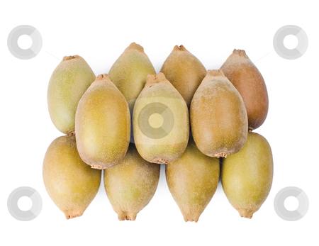 Group of Kiwi fruit stock photo, Group of Kiwi fruit, Isolated on white background by Lawren