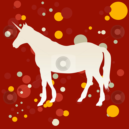 Unicorn stock vector clipart, A vector illustration of a unicorn. by Richard Laschon