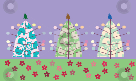 Christmas tree design stock photo, Christmas tree background, vector art by Richard Laschon