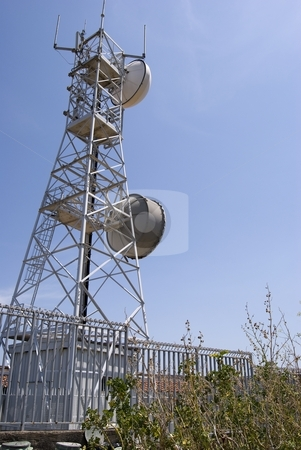 Radio trellis stock photo, The image shows the only one radio trellis at stromboli island. by Antonino Sicali