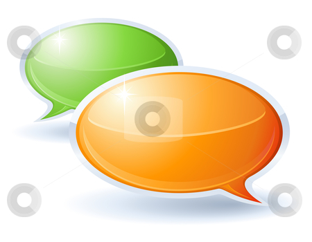 Speech bubbles stock vector clipart, Speech bubbles by Laurent Renault