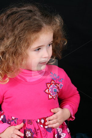 Beautiful Girl stock photo, Beautiful young girl with curly hair and cute features by Vanessa Van Rensburg