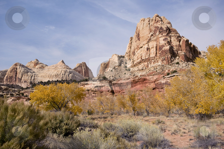 View of a Mountain stock photo, Grand Staircase Escalante National Park by Sharron Schiefelbein