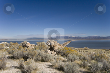 Antelope Island State Park in Utah stock photo, Antelope Island State Park in Utah by Sharron Schiefelbein