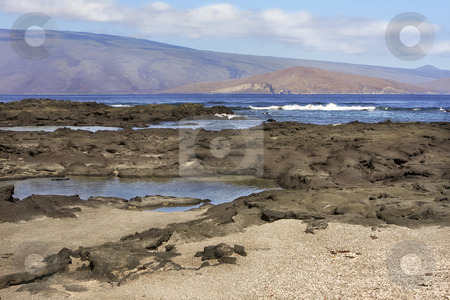 Seascape of the Galapagos Islands stock photo, Seascape of the Galapagos Islands in Ecuador, South America by Sharron Schiefelbein