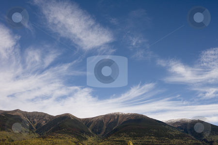 Clouds over mountains stock photo, Clouds over mountains by Sharron Schiefelbein