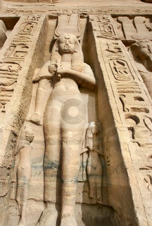 Statues of Nefertari as goddess Hathor  stock photo, Abu SimbelStatues of Nefertari as goddess Hathor by Sharron Schiefelbein