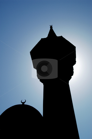 Minaret stock photo, Romania, Constanta, Minaret and dome of the Carol 1 Mosque (1910) by David Ryan