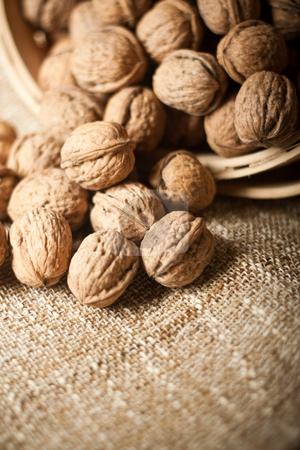 Walnuts stock photo, Series of organic and fresh walnuts by Jose Wilson Araujo