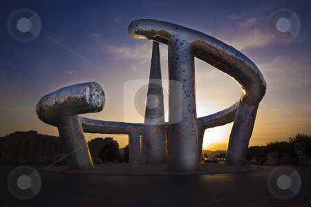 Marina D?or monument stock photo, Decorative monument in the street in Marina D?or,Spain by Bernardo Varela