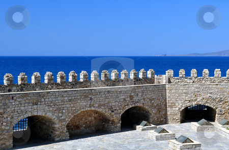Fortification: Venetian castle (Koules), in Crete, Greece stock photo, Travel photography: Venetian fortress in the Island of Crete, Greece by Fernando Barozza