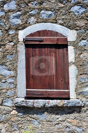Old window stock photo, Old window in rural area of Crete, Greece by Fernando Barozza