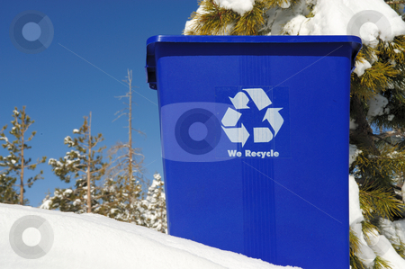Recycle stock photo, Keep the Earth as clean as new snow by recycling cans, bottles and paper by Lynn Bendickson