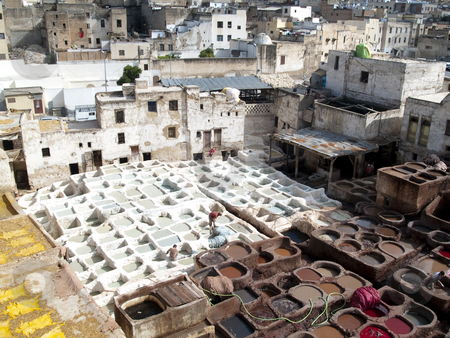 Fez Morocco - medina. stock photo, Colorful city, Fez in Morocco. Beauty aerial view. by Tomasz Parys