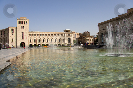 Centre of Yerevan stock photo, Square in centre of Yerevan Armenia.Summer day. by Tomasz Parys