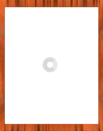 Empty photo frame stock photo, Empty wood photo frame with copyspace by Laurent Dambies