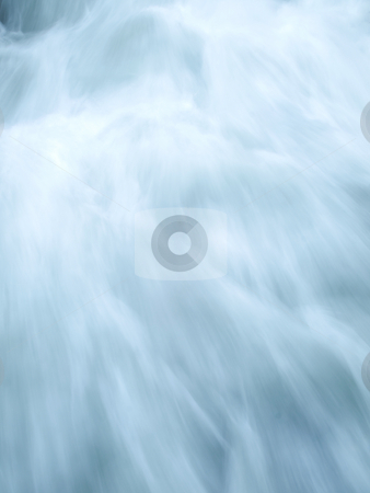 Water blur stock photo, Blue water stream taken at slow motion by Laurent Dambies