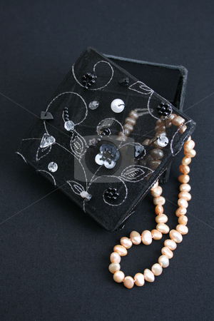 Organza Boxes stock photo, Black and White Organza Boxes with pearls by Vanessa Van Rensburg