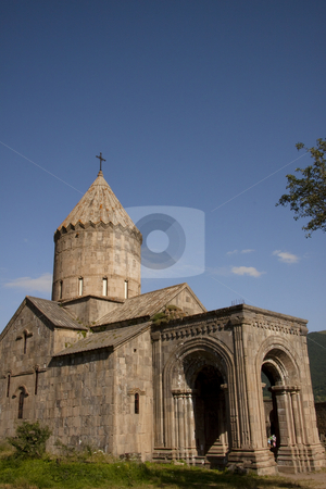 Armenia - Tatev monastyr stock photo, Armenia, Tatev old monastyr, blue sky, summer day. by Tomasz Parys