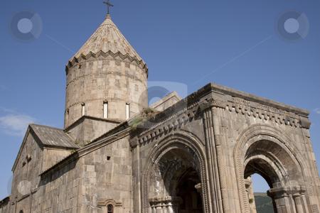Old monastyr - Tatev stock photo, Blue sky summer day, Tatev Monastyr - Armenia by Tomasz Parys
