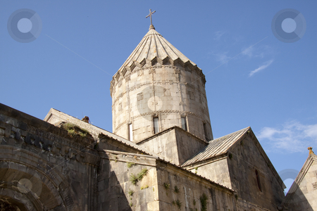 Tatev Monastyr stock photo, Tower of Tatev Monastyr in Armenia. Summer day. by Tomasz Parys