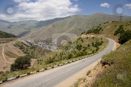 Mountain view stock photo, Mountain view, empty route, view in Armenia by Tomasz Parys